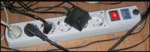 Power strip - shielding prevented a retrofit
