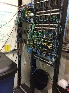 rack wiring mess before RCM arrays